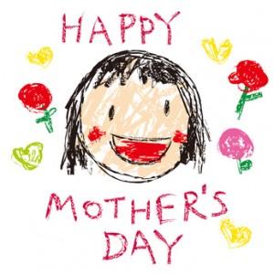 母の日のままの似顔絵