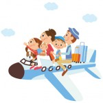 小さな子供や赤ちゃん連れでも意外に安心な飛行機で家族旅行