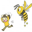 蜂に刺された