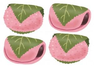 桜餅,長命寺,道明寺