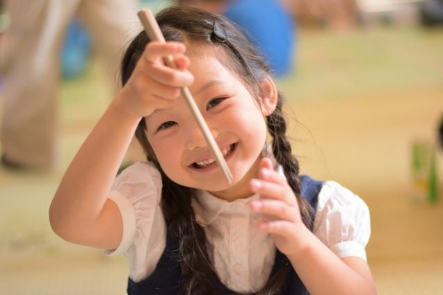 子供,お箸,保育園
